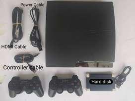 Jual PS 3 Slim 160GB HD EXT 500GB