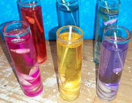 Gel glass candle
