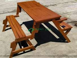 Meja+bangku/ cafe / lipat/mejig kayu jati perhutani/kwalitas ekspor