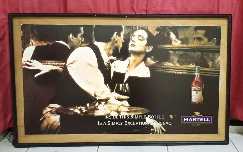 Pajangan gambar klasik Martell Cordon Bleu 0