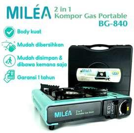Kompor Portable 2in1 Milea BG-840 ( Kompor Hiking/ Traveling )