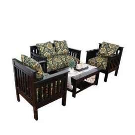 Kursi meja tamu hitam glossy