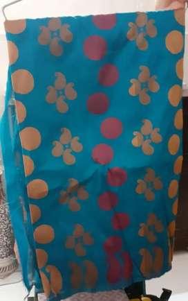 Silk saree with latest design.  With blouse piece