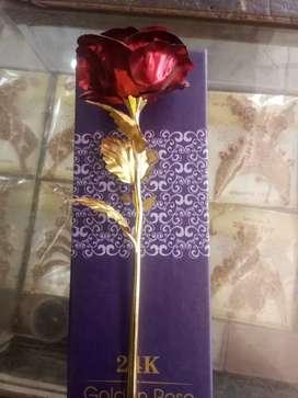 Golden rose for gift new