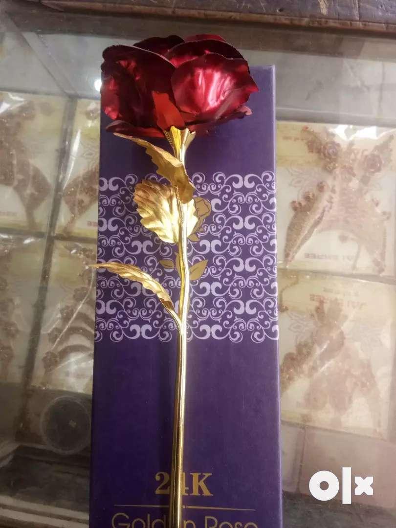 Golden rose for gift new 0