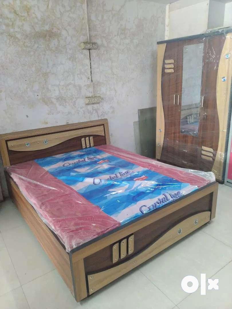 Bedroom set bed and wardrobe 0