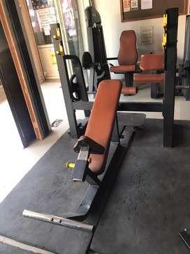 Gym free weight machine