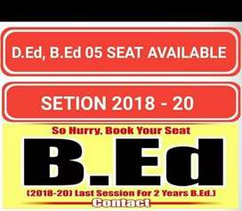 Phd BEd back admittion 2018 to 2019