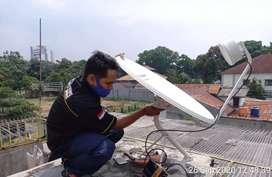 Parabola mini tanpa biaya bulanan perbulan antena tv modern,mulyorejo