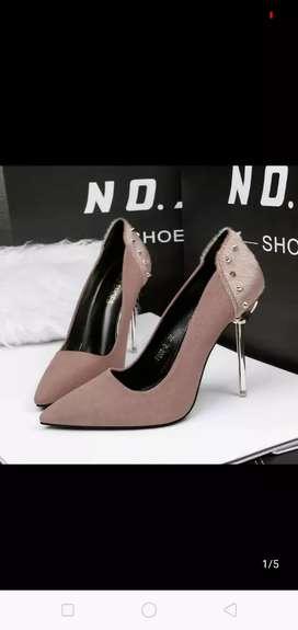 Metal heels (Brown)