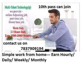 Hiring For homebased Back Office Executive,Only Female