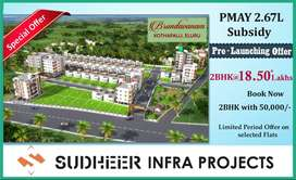 కేవలం 18.50*లక్షలకే 2 BHK with Parking, NEW LAUNCHING OFFER in ELURU