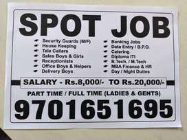 we have different types of jobs