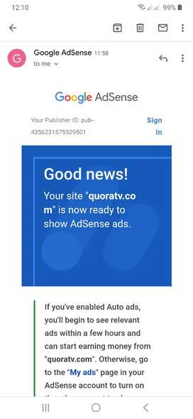 Blogger website for sale with adsense