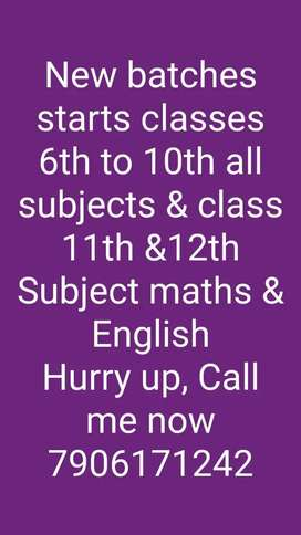 Home tuitions class 4th to10th all subjects