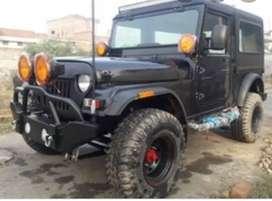 Black modified thar jeep