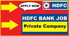 Urgent hiring for hdfc bank job all over india