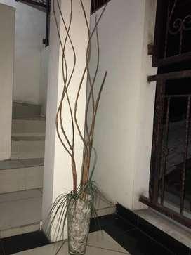 Vas bunga kaca vintage dekor