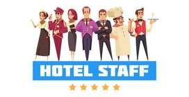 hotel staff job(hr/reception/manger/room service/ room attandant/