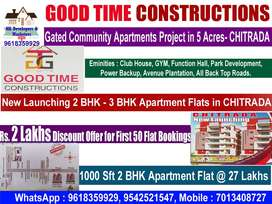 Get Rs. 2 Lakhs Discount Offer-New Launching Apartments Chitrada