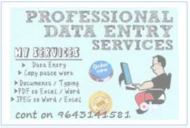 Simple data entry home related typing job | 23000/-