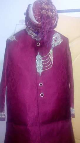 Sherwani+kulla+two pares of khussa well stiched.nice colour...
