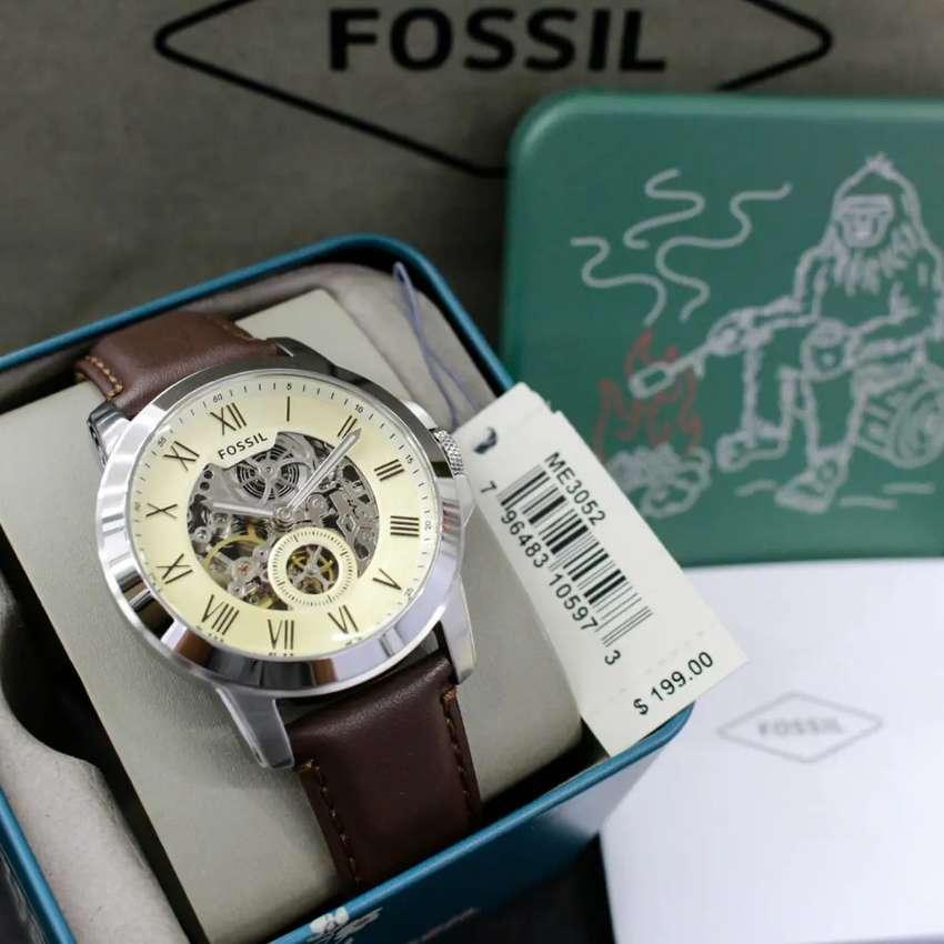 Fossil ME3052 Automatic Strap Kulit Original 0
