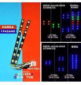 AB 2PCS LAMPU LED 8 MATA KEDIP OTOMATIS