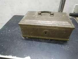 Old brass pan box