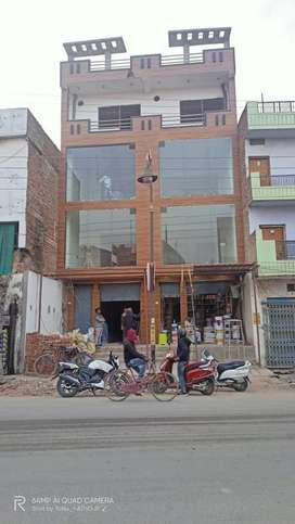 Complete two part hall of equal length with glass finishing 4 floor