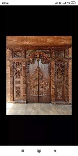Pintu kusen Gebyok Kayu Jati Dmana