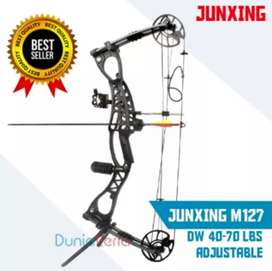 Busur panah compound bow JUNXING M127 lengkap tinggal pakai