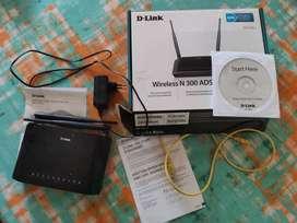 D-Link DSL-2730U Wireless N 300 ADSL2 + Router+Bill
