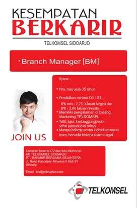 Branch Manager dan Customer Service (TELKOMSEL)