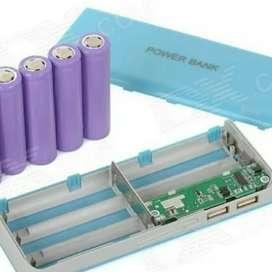 Casing Powerbank isi' 5 Baterai Case Power Bank untuk 5Pcs