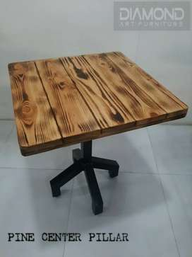 BUY NEW CAFE HOTEL RESTAURANT PINE FLAME TOP TABLE MANUFACTURER