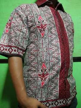 Kemeja Batik Pria Motif Gorga Batak