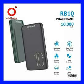 Foomee RB10 Power Bank 10000 mAh Dual USB - 0940