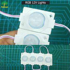 4pcs RGB 12v Lights.Multicolor lights competeable on all place.