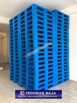 Pallet plastik flat import beban capai 5ton kondisi 95% bisa racking
