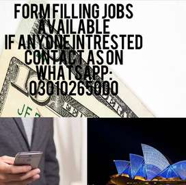 FORM FILLING JOB AVAILABLE HERE