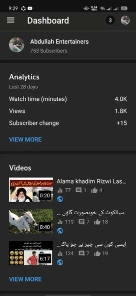 U tube channel for sale 750 subscriber 108000 watch time