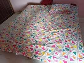 Double bed size3×6 ke do bed aur 4inch carlon company ke gadde