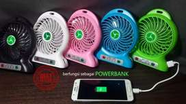 Kipas portable senter powerbank