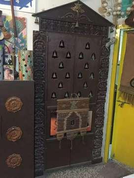 Wooden pooja door