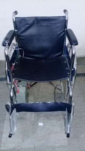 Electrical power wheelchair with joystick and voice controlled