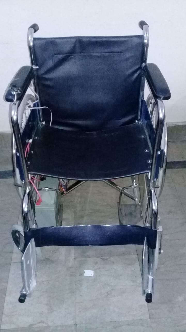 Electrical power wheelchair with joystick and voice controlled 0