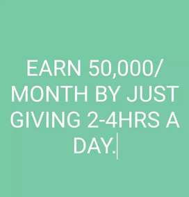 Earn 30000/month by just giving 2-4hrs a day.