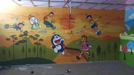 Wall art & Wall design real skill artist