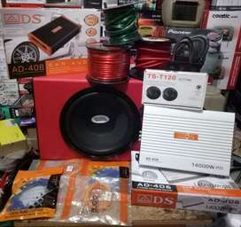 Plus Pasang,Subwofer UltraDrive+Power ADS+Tweeter+Box subwofer+Kabel